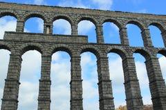 Segovia aquaduct Fotografering för Bildbyråer