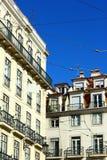 Specificera av en gammal byggnad, Lisbon, Portugal Royaltyfria Bilder