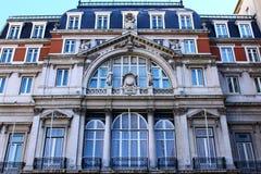 Specificera av en gammal byggnad, Lisbon, Portugal royaltyfria foton