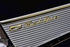 Specificera för Chevy BelAir klassiskt bil arkivfoto