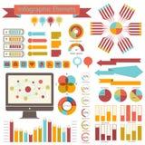 Specificera infographicsuppsättningen. Informationsdiagram Royaltyfri Fotografi