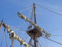 Specificera masts och repet Royaltyfria Bilder