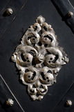 Antikviteten belägger med metall garneringen arkivfoto