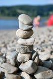 Stå hög av stenar Fotografering för Bildbyråer