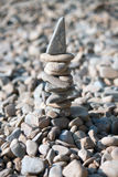 Stå hög av stenar arkivfoto