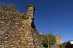 Specificera väggar av slotten, Castelo de Vite, Royaltyfri Fotografi