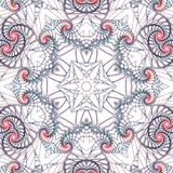 Specificerad swirly mandala Arkivbilder
