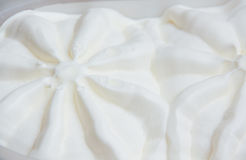 Specificerad textur för vaniljglass makro royaltyfri foto