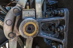 Specificerar av gammalt greasy maskineri arkivfoton
