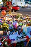 Specifiek bloembed van Las Vegas die slachtoffers schieten stock afbeelding