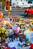 Specifiek bloembed van Las Vegas die slachtoffers schieten royalty-vrije stock afbeeldingen