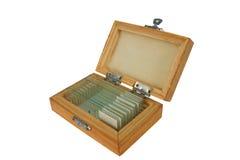 Specimen. Box of specimens stock image