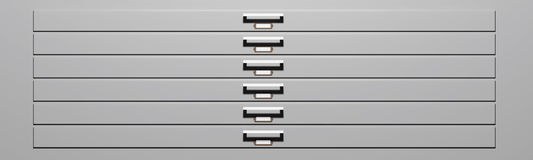 Specimen drawers Royalty Free Stock Image