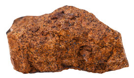 Specimen of limonite  brown iron ore isolated Royalty Free Stock Photography