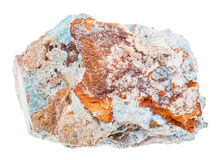 Specimen of Scorodite stone Arsenic ore isolated Stock Image