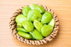 Speciosa frais et mûr de parkia ou haricot amer, haricot de groupe tordu, haricot de puanteur et x28 ; Speciosa de Parkia , FABAC Photo libre de droits