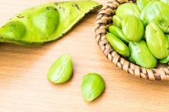 Speciosa frais et mûr de parkia ou haricot amer, haricot de groupe tordu, haricot de puanteur et x28 ; Speciosa de Parkia , FABAC Images stock