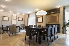 Specious mieszkania wnętrze, łomota teren Zdjęcia Royalty Free