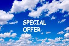 Specjalna oferta Zdjęcie Stock