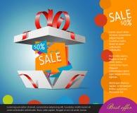 Specjalna oferta w prezenta pudełku Prezenta talon Zdjęcie Royalty Free