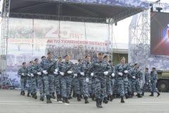 Specjalna siły policyjne OMON Zdjęcia Stock
