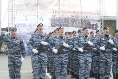 Specjalna siły policyjne OMON Fotografia Royalty Free