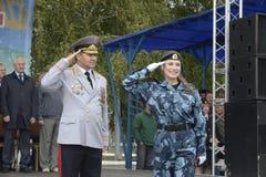 Specjalna siły policyjne OMON Zdjęcie Stock