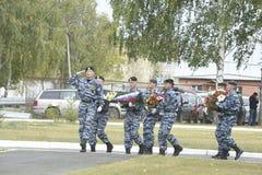 Specjalna siły policyjne OMON Fotografia Stock