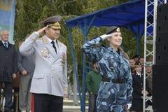 Specjalna siły policyjne OMON Obrazy Royalty Free
