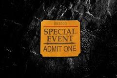 Specjalne Wydarzenie biletowy karcz obrazy stock