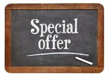 Specjalnej oferty blackboard znak fotografia royalty free