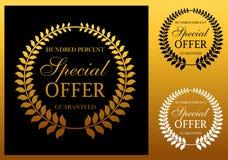 Specjalnej oferty emblemat lub etykietka Obraz Royalty Free
