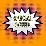 Specjalnej oferty etykietka ilustracji