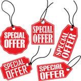 Specjalnej oferty etykietki set, wektorowa ilustracja Obrazy Stock