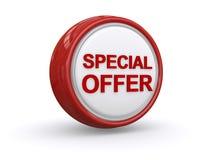 Specjalnej oferty guzik Obrazy Stock