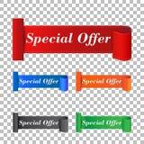 Specjalnej oferty majcher Etykietki wektorowa ilustracja na bac ilustracja wektor