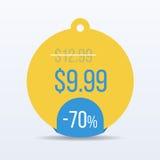 Specjalnej oferty sprzedaży etykietki rabata symbolu handlu detalicznego majcheru znaka cena wektor Obrazy Royalty Free