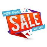Specjalnej oferty sprzedaży papieru sztandaru lub etykietki projekt Zdjęcia Stock