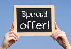 Specjalnej oferty znak Obraz Stock