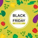 Specjalnej sprzedaży plakat z organicznie warzywami ilustracja wektor