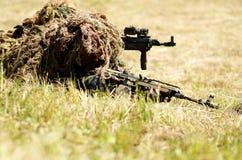 Specjalni żołnierze na polu bitwy Zdjęcia Royalty Free