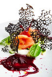 Specjalność luksusowa restauracja Fotografia Royalty Free