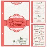 Specjalny Bożenarodzeniowy świąteczny menu projekt Obrazy Royalty Free