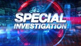 Specjalny dochodzenie - Wyemitowany TV animacji grafiki tytuł ilustracja wektor