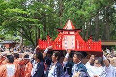 Specjalny festiwal - Yoshida pożarniczy festiwal przy Fujisan HongÅ 'S Fotografia Royalty Free