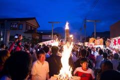 Specjalny festiwal - Yoshida pożarniczy festiwal przy Fujisan HongÅ 'S Obraz Royalty Free