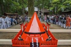 Specjalny festiwal - Yoshida pożarniczy festiwal przy Fujisan HongÅ 'S Obrazy Royalty Free