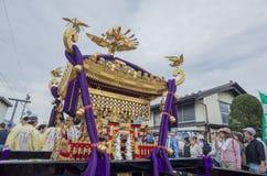 Specjalny festiwal - Yoshida pożarniczy festiwal przy Fujisan HongÅ 'S Zdjęcia Royalty Free