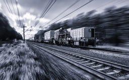 Specjalny Kolejowego transportu szybki ruch z plamą Zdjęcia Royalty Free