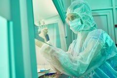 Specjalny laborancki miejsce dla ryzykownego naukowego eksperymentu Obrazy Royalty Free